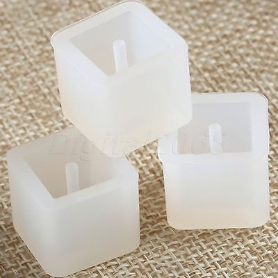 Handmade DIY Craft Silicone Pendant Mold Resin Cast Jewelry Making Cube 12mm