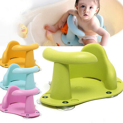 Baby Infant Kids Toddler Bath Seat Ring Non Anti Slip Safety Chair Mat Pad Tub