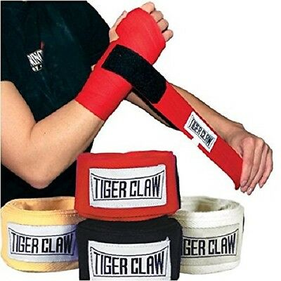 Tiger Claw Pair of Professional 180in Cloth Hand Wraps Yellow