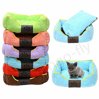 Cozy Puppy Dog Cat Pet Bed Removable Mat House Nest Cushion Blanket Basket