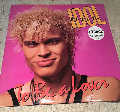 """billy idol to be a lover 12""""single"""