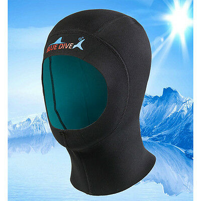 2mm Neoprene New Diving Hat Cap Neck Cover Wetsuit Surfing Hood Kayak Scuba 7871
