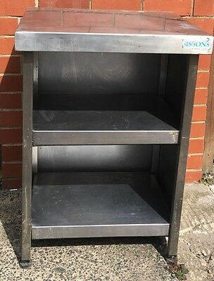stainless steel 2 shelf enclosed bench