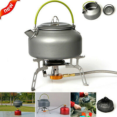 800ml Camping Outdoor Kettle Water Stove Coffee Pot Portable Teapot Hiking 7961