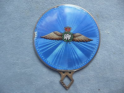 rare WW2 RAF blue guilloche enamel sweetheart pocket mirror war souvenir