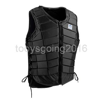 Men Breathable Equestrian Vest Horse Riding Body Protector Lightweight Large