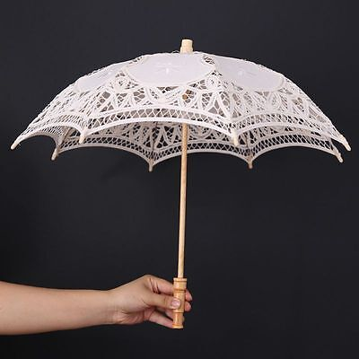 Vintage Kids Girl Lace Parasol Umbrella Sun Umbrella Bridal Wedding Party Decor