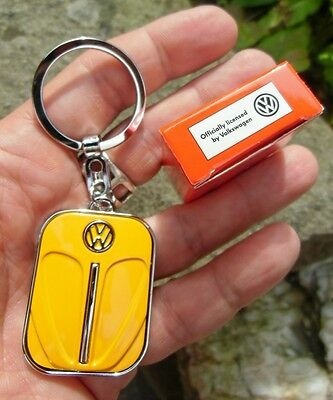 German VW Volkswagen Classic Beetle BUG - ORANGE Front Hood Keychain