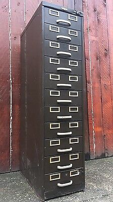 "Vintage Antique "" ART METAL "" Racking Shelving Filing Cabinet Industrial Drawers"
