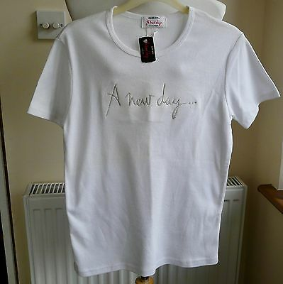 CELINE DION - A New Day T-Shirt Ladies Size XL (See Measurements) Sparkly BNWT