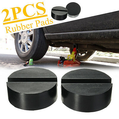 2Pcs 6cm Universal Slotted Frame Rail Floor Jack Guard Adapter Lift Rubber Pads