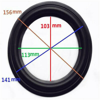 "High Quality 6"" 6inch 156mm Speaker Surround Repair Rubber Edge Replacement ♫"