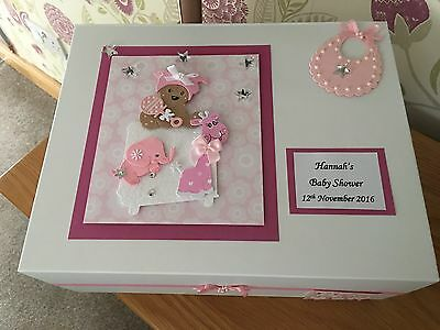 Baby Girl Keepsake Box , Baby Shower, Christening , New Baby Gift Personalised