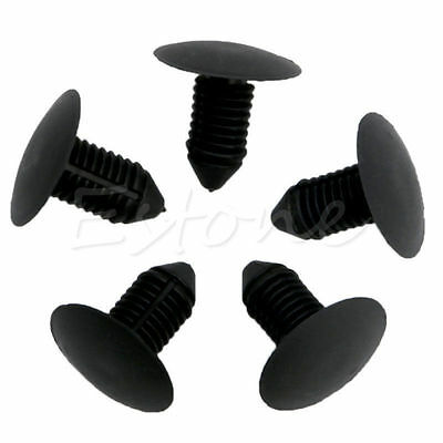 20Pcs Car Bumper Fender Black Plastic Rivets 10mm Hole Fasteners for Ford New