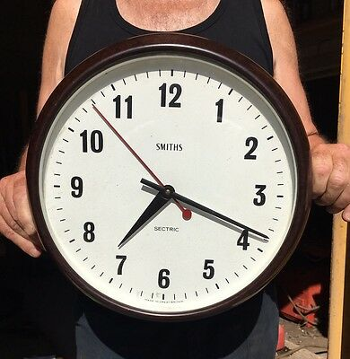 Old Vintage Antique Large SMITHS SECTRIC Industrial Factory Train Station Clock