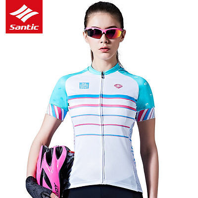 Santic Women Cycling Jersey Clothing Riding Sports Top Quick Dry Shirt Bicycle