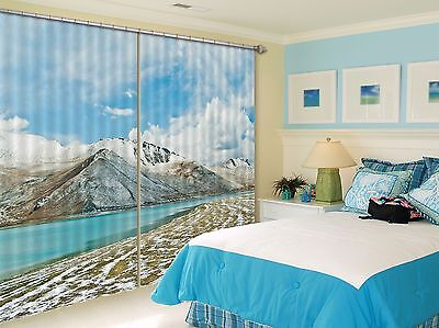 3D Hills Sky 76 Blockout Photo Curtain Printing Curtains Drapes Fabric Window CA