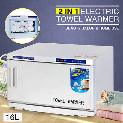 2in1 Electric Hot Towel Warmer UV Sterilizer Cabinet Spa Salon Beauty Equipment