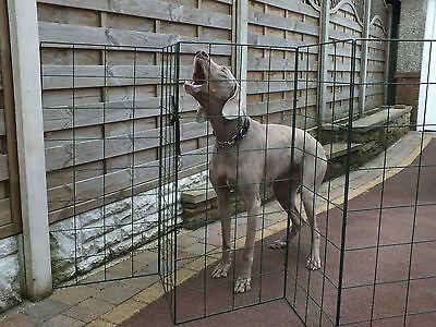 Flexigro Dog pen pet cage flexible fencing barrier mesh divider 1m high puppy