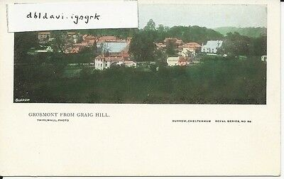 Vintage postcard of Grosmont from Graig Hill, Monmouthshire
