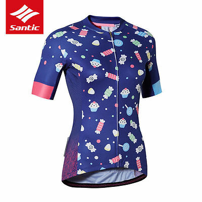 Santic Women's Cycling Jersey Girl Breathable Clothing Bicycle Bike Shirt Jersey