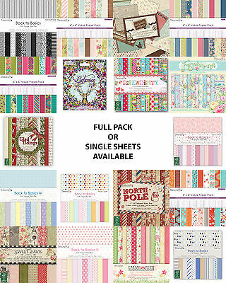 "Dovecraft scrapbooking paper 12""x12"" full pack or single sheets"