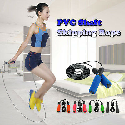 Skipping Speed Rope Weighted Fitness Boxing Foam Padded Jump Jumping Gym Ropes