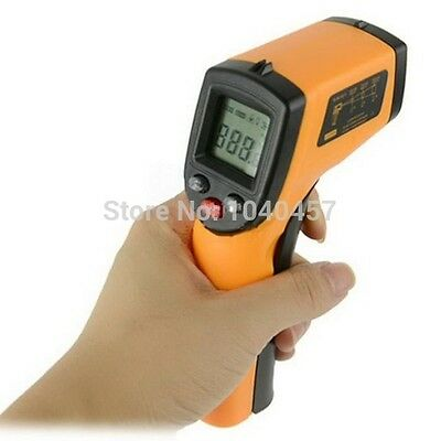 Laser LCD IR Infrared Digital Thermometer Heat Meter Temperature Measuring Gun