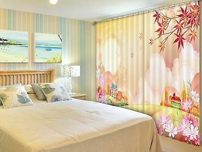 3D Cartoon 76 Blockout Photo Curtain Printing Curtains Drapes Fabric Window CA