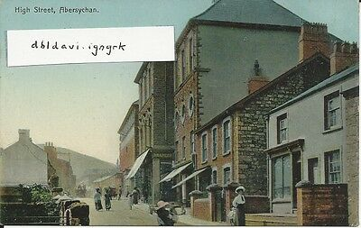 Vintage postcard of High Street, Abersychan, Monmouthshire
