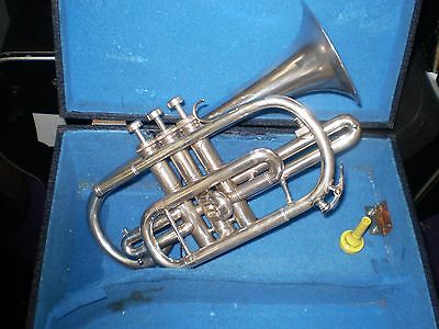 Cornet Boosey & Hawkes Regent 1967  silver plated.