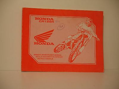 Honda Cr125 Manuel Entretien Atelier Manual Maintenance