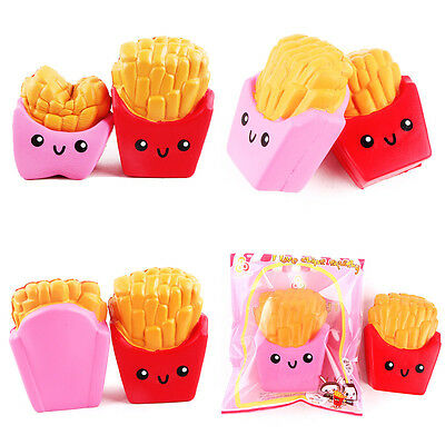 1pc 12CM Cute Squishy French Fries Squeeze Toy Slow Rising Gift Random Color