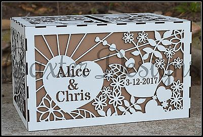 Wedding Engagement Party Card Wishing Well Box Raw Painted