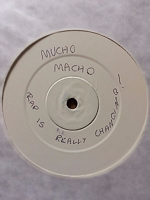 """Mucho Macho – Rap Is Really Changing Vinyl, 12"""", Promo, White Label"""