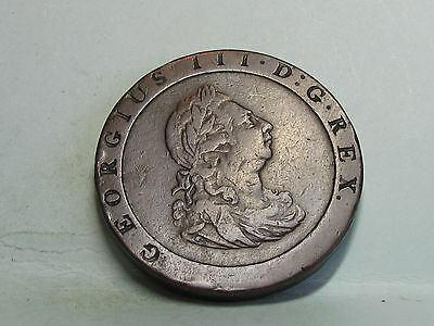 George Iii Copper *cartwheel* Penny Coin Dated 1797
