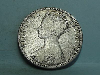 Victorian **godless** Silver Florin  Coin Dated 1849