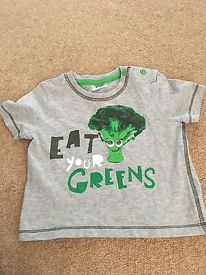 Baby Boys Fun Tshirt From Tesco Size 9-12 Months