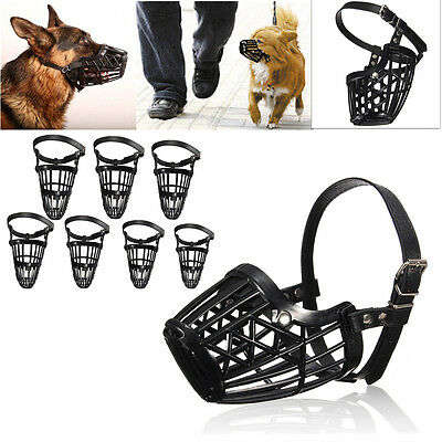 Pet Dog Muzzle Mouth Mesh Mask Cover Basket No Biting Chewing Barking 7 Sizes
