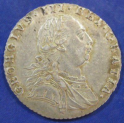 1787 6d George III silver Sixpence with Hearts - excellent grade