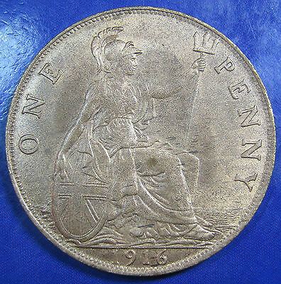 1916 1d George V Penny - quite a difficult date in this high a grade