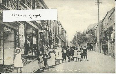 Vintage postcard of Commercial road, Llanhilleth, Monmouthshire