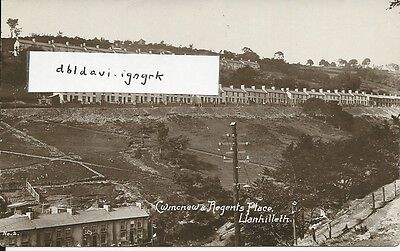 Vintage locally published RP postcard of Cwmcnew & Regents Place, Llanhilleth