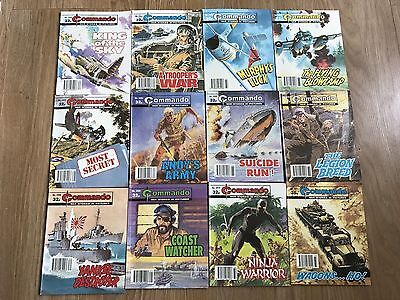 Commando comics x12 - Consecutive No. 2400 - 2411 - VERY good condition