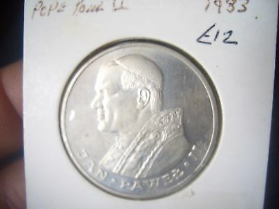 Silver 1000 Soldi  Dated 1983  Pope Pawel Ii Good House Clearance  Find