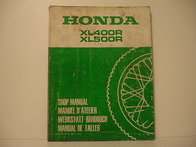 Honda Xl400R Xl500R   Manuel Atelier Workshop Manual De Taller