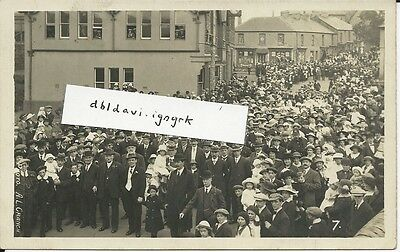 Vintage RP postcard of crowds at Whit March, Blaina, Monmouthshire