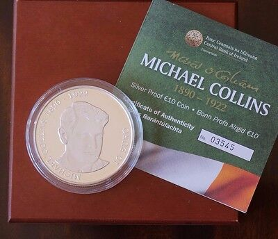 Ireland, Silver Proof 10 Euro coin, Michael Collins 1890-1922, with certificate
