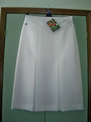 Ladies New White Bowling Skirt Taylor Size 14/29 length (Teflon Treated)