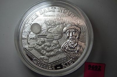 2009 Malawi 20 MK Kwacha The Salt Routes 31.1g 1oz Ag 999 Silver D40.6 Scarce